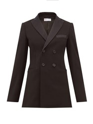 Red Valentino Redvalentino Double Breasted Tuxedo Jacket Black