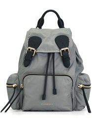 Burberry Patch Pocket Backpack Grey