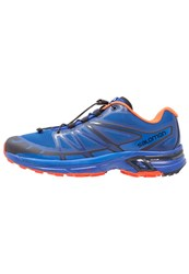 Salomon Wings Pro 2 Trail Running Shoes Nautical Blue Flame Black