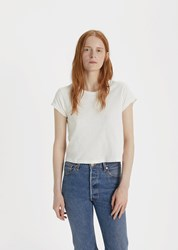 Re Done X Hanes 1950'S Boxy Crop Tee Vintage White