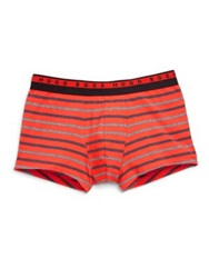 Hugo Boss Boss Striped Boxer Briefs Orange Grey Blue