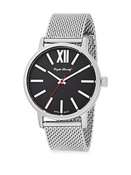 English Laundry Stainless Steel Mesh Watch Silver Black