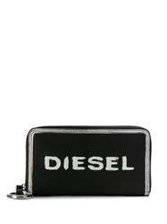 Diesel Long Print Wallet Black