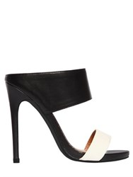 Nasty Gal 130Mm Marlene Sabot Faux Leather Sandals