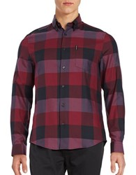 Ben Sherman Oversized Gingham Sportshirt Ruby Red
