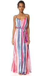 Bb Dakota Jack By Joyner Colorfield Printed Maxi Dress Bright White