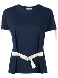 J.W.Anderson Belted T Shirt Blue