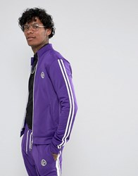 Jaded London Track Jacket In Purple With Taping Purple