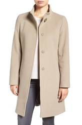 Cinzia Rocca Icons Women's Stand Collar Walking Coat Stone
