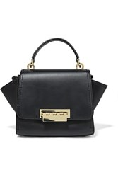 Zac Posen Eartha Iconic Mini Leather Shoulder Bag Midnight Blue