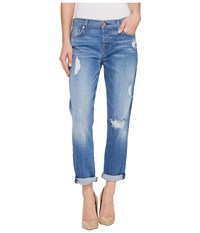 7 For All Mankind Josefina W Destroy In Adelaide Bright Blue Adelaide Bright Blue Women's Jeans