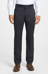 Men's Big And Tall Bonobos 'Weekday Warrior' Non Iron Straight Leg Cotton Pants Tuesday Blacks