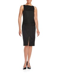 Dkny Open Back Dress Black