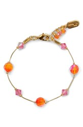 Women's Dabby Reid 'Lyla' Crystal Mix Bracelet Orange Pink