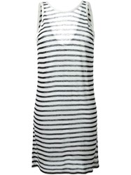 T By Alexander Wang Striped Tank Dress Blue