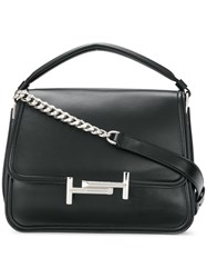 Tod's Double T Small Satchel Leather Black