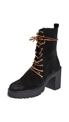 Free People Dylan Lace Up Boots Black