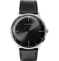 Sekford Type 1A Stainless Steel And Leather Watch Black