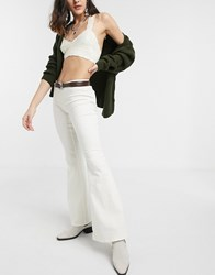 Free People Penny Flare Trouser In Ivory White