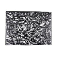 Chilewich Pressed Drift Rectangle Placemat Black