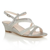 Lotus Hallmark Hazeline Wedge Sandals Silver