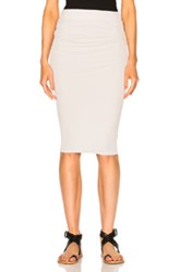 James Perse Double Shirring Skirt In White Gray White Gray