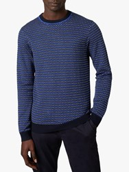 Ted Baker Cambra Check Jumper Blue