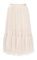 Needle And Thread Rose Beige Lace Tulle Skirt Ivory