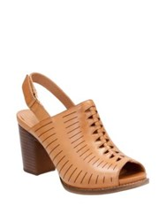 Clarks Briatta Key Slingback Mules Light Tan