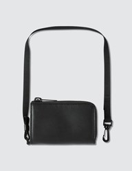 Maison Martin Margiela Zip Wallet With Strap Black