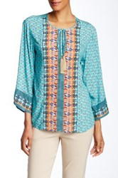 Insight Printed Blouse Blue
