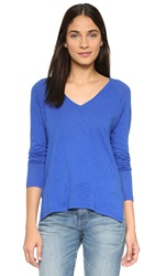 Sundry Boxy Long Sleeve Tee Royal Blue