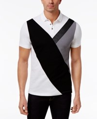 Inc International Concepts Men's Colorblocked Polo Only At Macy's White