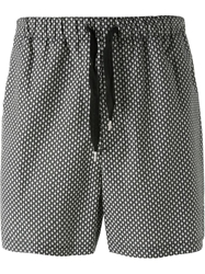 Alexander Mcqueen Mini Skull Swim Shorts Black