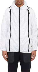 Final Home Contrast Zip Hooded Windbreaker Colorless