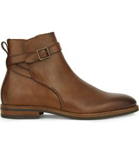 Aldo Tabari Leather Ankle Boots Cognac