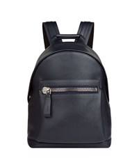 Tom Ford Leather Backpack Navy