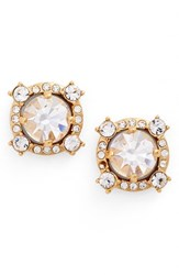 Kate Spade Women's New York Crystal Stud Earrings Clear Gold