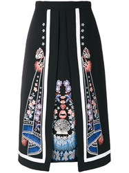 Temperley London Parchment Layer Skirt Polyester Viscose Black