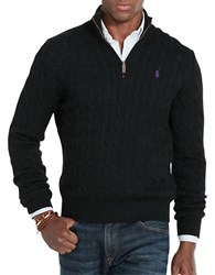 Polo Ralph Lauren Cable Knit Mockneck Sweater Polo Black