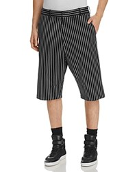 Rag And Bone Smith Stripe Relaxed Fit Shorts Black White
