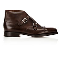 John Lobb Men's William Ii Double Monk Strap Shoes Dark Brown