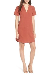 Lush Hailey Crepe Dress Rust Marsala