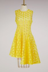 Paskal Asymmetric Laser Dress Yellow Black Slip