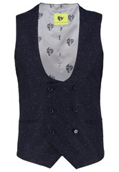 Noose And Monkey Waistcoat Navy Dark Blue