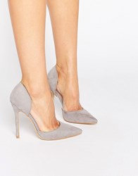 Public Desire Keeley Clear Detail Grey Court Shoes Grey Mf