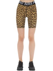 Nike Leopard Shorts Gold
