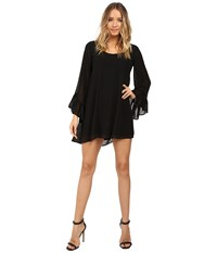 Show Me Your Mumu Boomerang Low Back Dress Black Chiffon Women's Dress