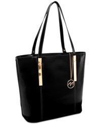 Mcklein Cristina Leather Tote Black