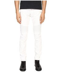 Philipp Plein Highway Biker Straight Denim Intimate White Men's Jeans